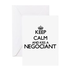 Keep calm and kiss a Negociant Greeting Cards