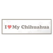 I Love My Chihuahua Bumper Bumper Sticker