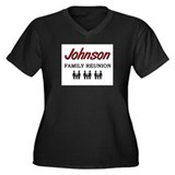 Johnson Family Reunion Women's Plus Size V-Neck Da