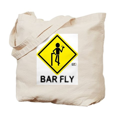 Warning Bar Fly Tote Bag
