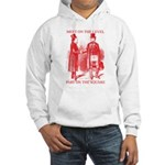 Masons meet on the level-Red Hooded Sweatshirt