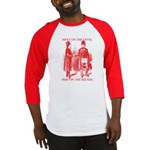Masons meet on the level-Red Baseball Jersey