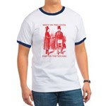 Masons meet on the level-Red Ringer T