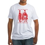 Masons meet on the level-Red Fitted T-Shirt
