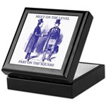 Meeting On the Level - Masonic Blue Keepsake Box