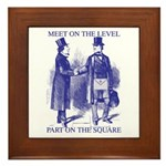 Meeting On the Level - Masonic Blue Framed Tile