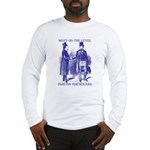 Meeting On the Level - Masonic Blue Long Sleeve T