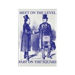 Meeting On the Level - Masonic Blue Rectangle Mag
