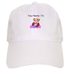 Custom Bear Eating Baseball Baseball Cap