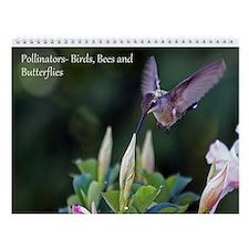 Birds, Bees And Butterflies Wall Calendar