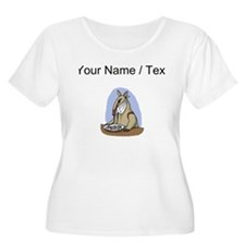 Custom Anteater Eating At Table Plus Size T-Shirt