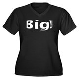 Big! 2nd Trimester Women's Plus Size V-Neck Dark T