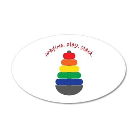 Imagine Play Stack Wall Decal