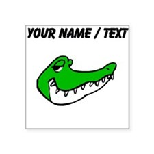 Custom Alligator Face Sticker