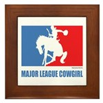 ML Cowgirl Framed Tile