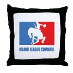 ML Cowgirl Throw Pillow