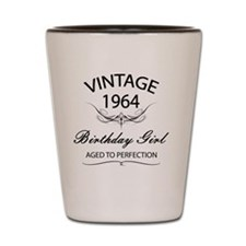 Vintage 1964 Birthday Girl Aged To Perf Shot Glass