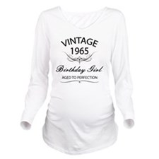 Vintage 1965 Birthda Long Sleeve Maternity T-Shirt