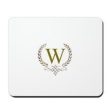 Gold Monogram with Laurels Mousepad
