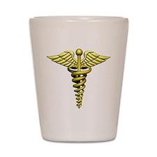 Golden Medical Symbol Shot Glass