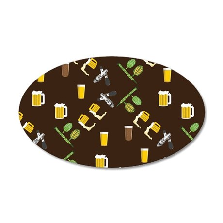 Beer Collage 20x12 Oval Wall Decal