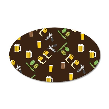Beer Collage 35x21 Oval Wall Decal