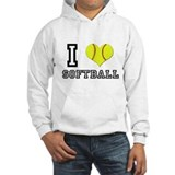 I Heart (Love) Softball Jumper Hoody