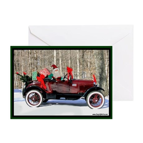 Santa Claus Antique Car Greeting Cards (Pk of 10)
