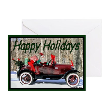Happy Holiday Antique Car Greeting Cards (Pk of 10