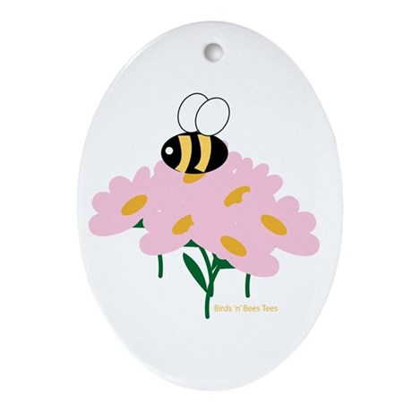 Twin A Bee Ornament (Oval)