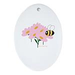 Twin B Bee Ornament (Oval)