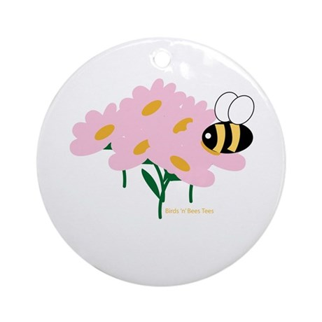 Twin B Bee Ornament (Round)