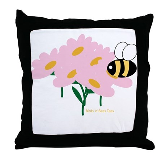 Twin B Bee Throw Pillow