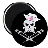"Pirate Nurse 2.25"" Magnet (10 pack)"