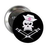 "Pirate Nurse 2.25"" Button (10 pack)"