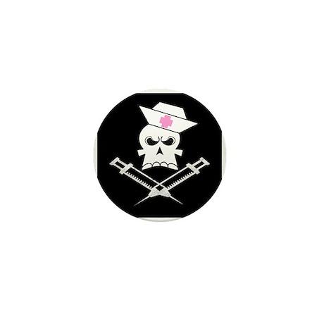 Pirate Nurse Mini Button