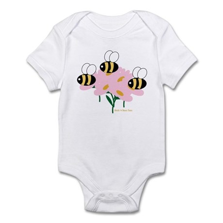 Triplet Bees Infant Bodysuit