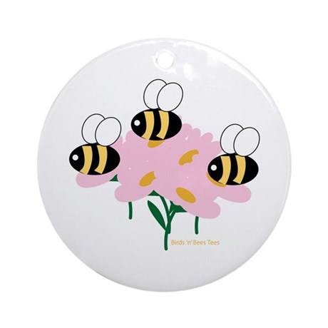 Triplet Bees Ornament (Round)