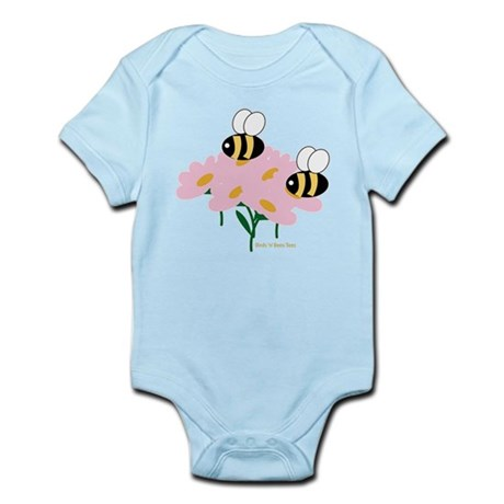 Twin Bees on Flowers Infant Bodysuit
