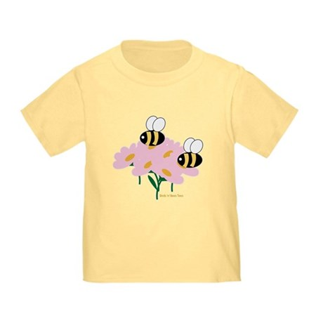 Twin Bees on Flowers Toddler T-Shirt