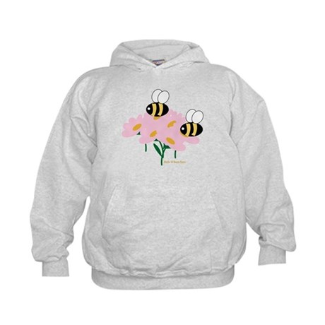 Twin Bees on Flowers Kids Hoodie