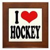 I Love Hockey Framed Tile