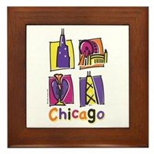 Chicago Kids Framed Tile