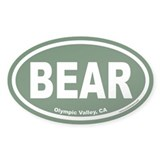 Olympic Valley BEAR Euro Oval Decal
