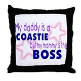 My daddy is a coastie but mom Throw Pillow