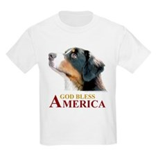 God Bless America Kids T-Shirt (with Dog)