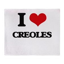 I love Creoles Throw Blanket