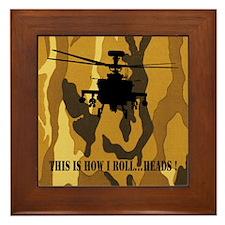 Unique Apache helicopter Framed Tile