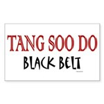 Tang Soo Do Black Belt 1 Rectangle Sticker