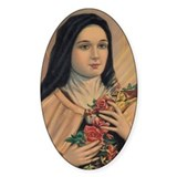 St. Therese of Lisieux Oval Decal